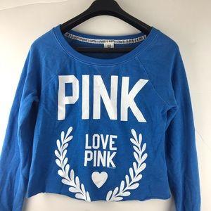 Pink Crop Top Sweatshirt